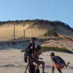 Pouso de parapente na Praia da Pipa